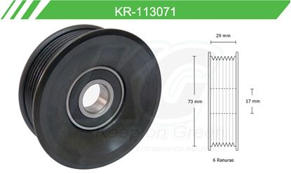 Imagen de Poleas de Accesorios y Distribución KR-113071