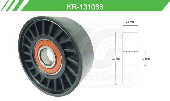Imagen de Poleas de Accesorios y Distribución KR-131088