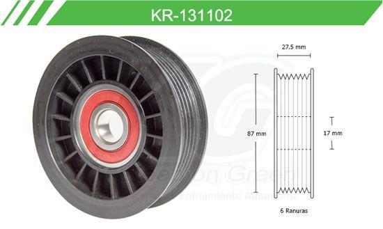 Imagen de Poleas de Accesorios y Distribución KR-131102