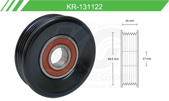 Imagen de Poleas de Accesorios y Distribución KR-131122