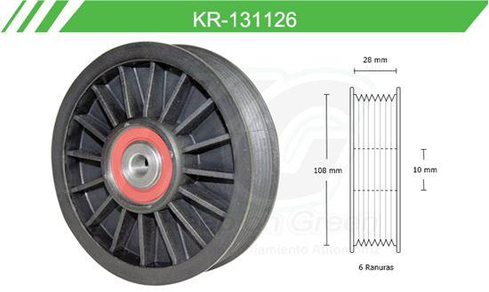 Imagen de Poleas de Accesorios y Distribución KR-131126