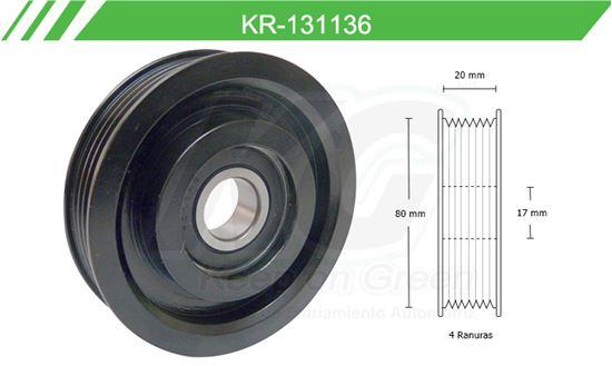 Imagen de Poleas de Accesorios y Distribución KR-131136