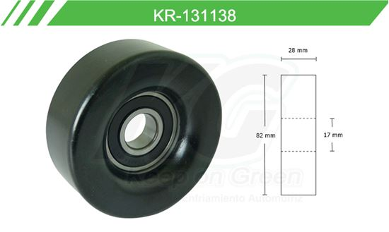 Imagen de Poleas de Accesorios y Distribución KR-131138