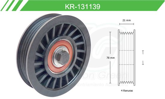 Imagen de Poleas de Accesorios y Distribución KR-131139