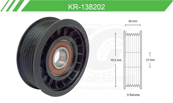 Imagen de Poleas de Accesorios y Distribución KR-138202