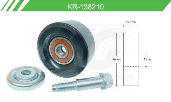 Imagen de Poleas de Accesorios y Distribución KR-138210