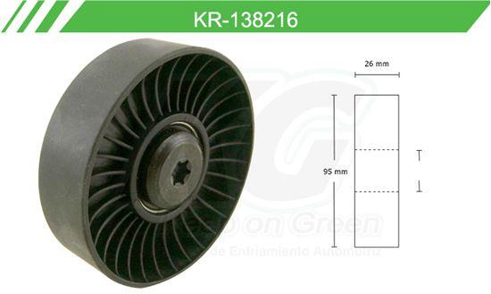 Imagen de Poleas de Accesorios y Distribución KR-138216