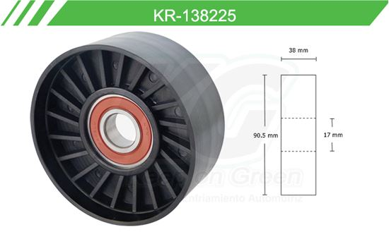 Imagen de Poleas de Accesorios y Distribución KR-138225