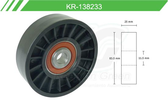 Imagen de Poleas de Accesorios y Distribución KR-138233