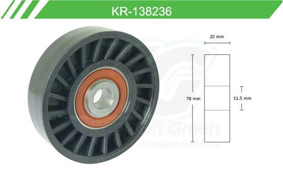 Imagen de Poleas de Accesorios y Distribución KR-138236