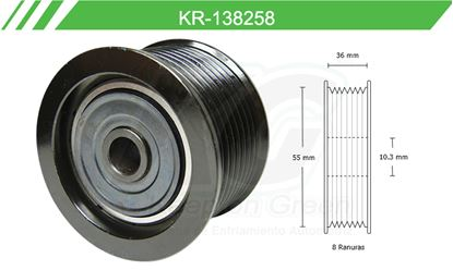 Imagen de Poleas de Accesorios y Distribución KR-138258